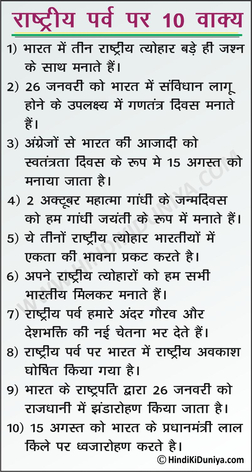 10 Lines on National Festivals of India