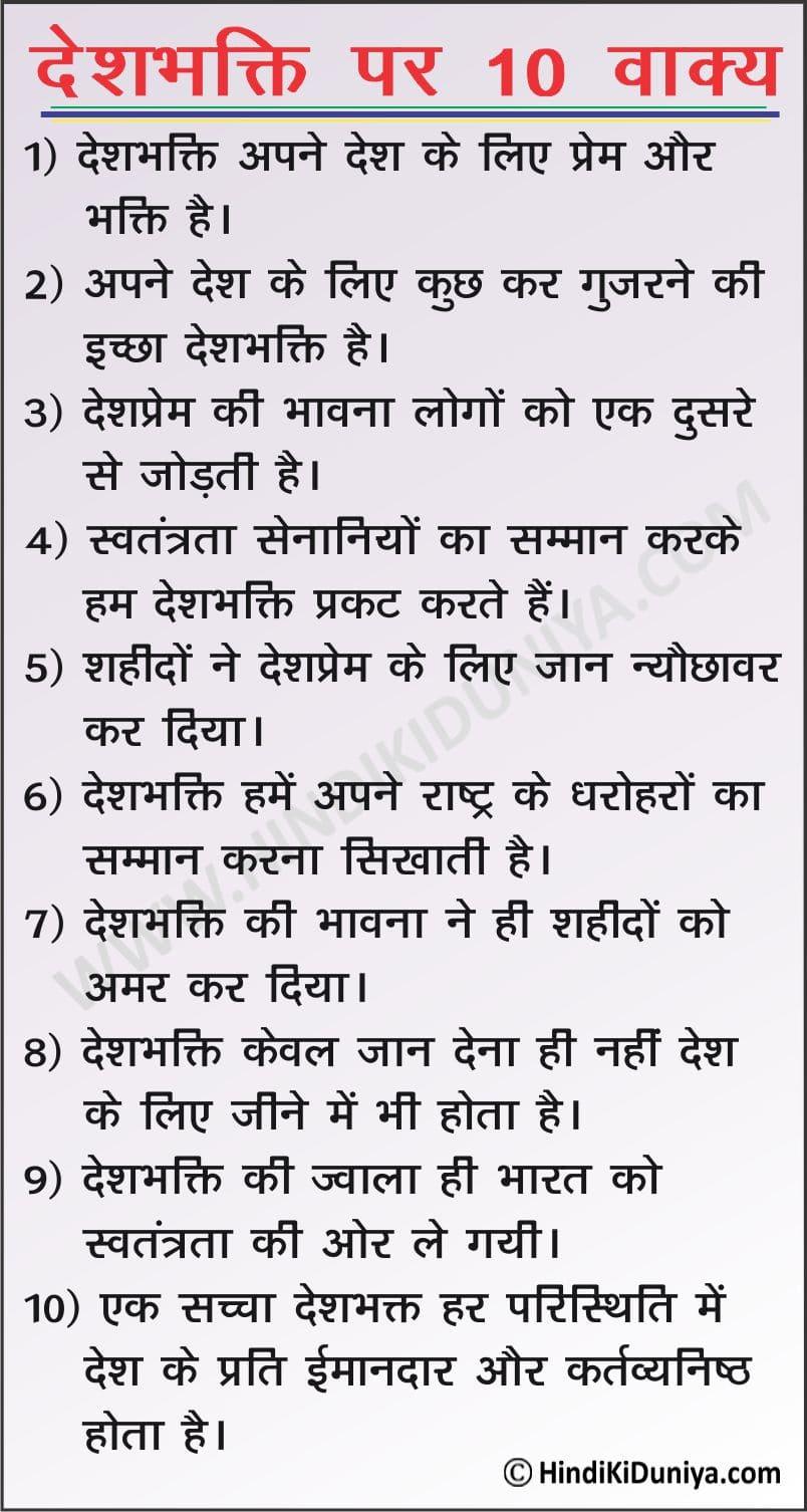 10 Lines on Patriotism
