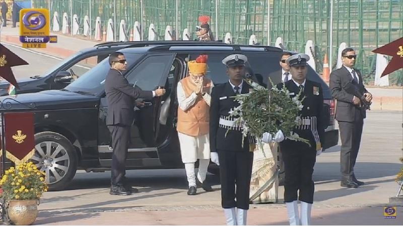 प्रधानमंत्री नरेंद्र मोदी का आगमन