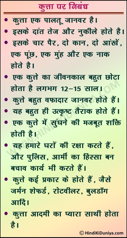 Dog Essay in Hindi