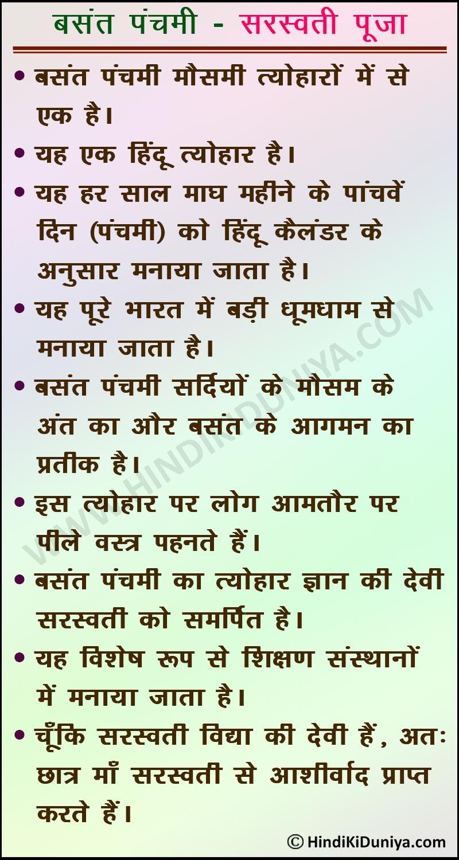 Essay on Basant Panchami