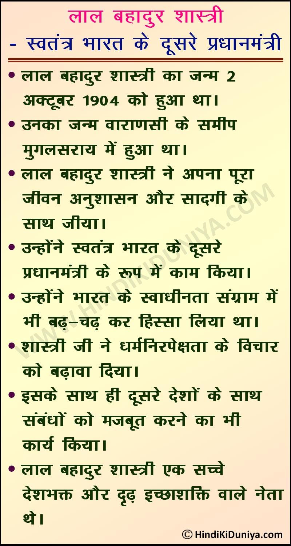 Essay on Lal Bahadur Shastri