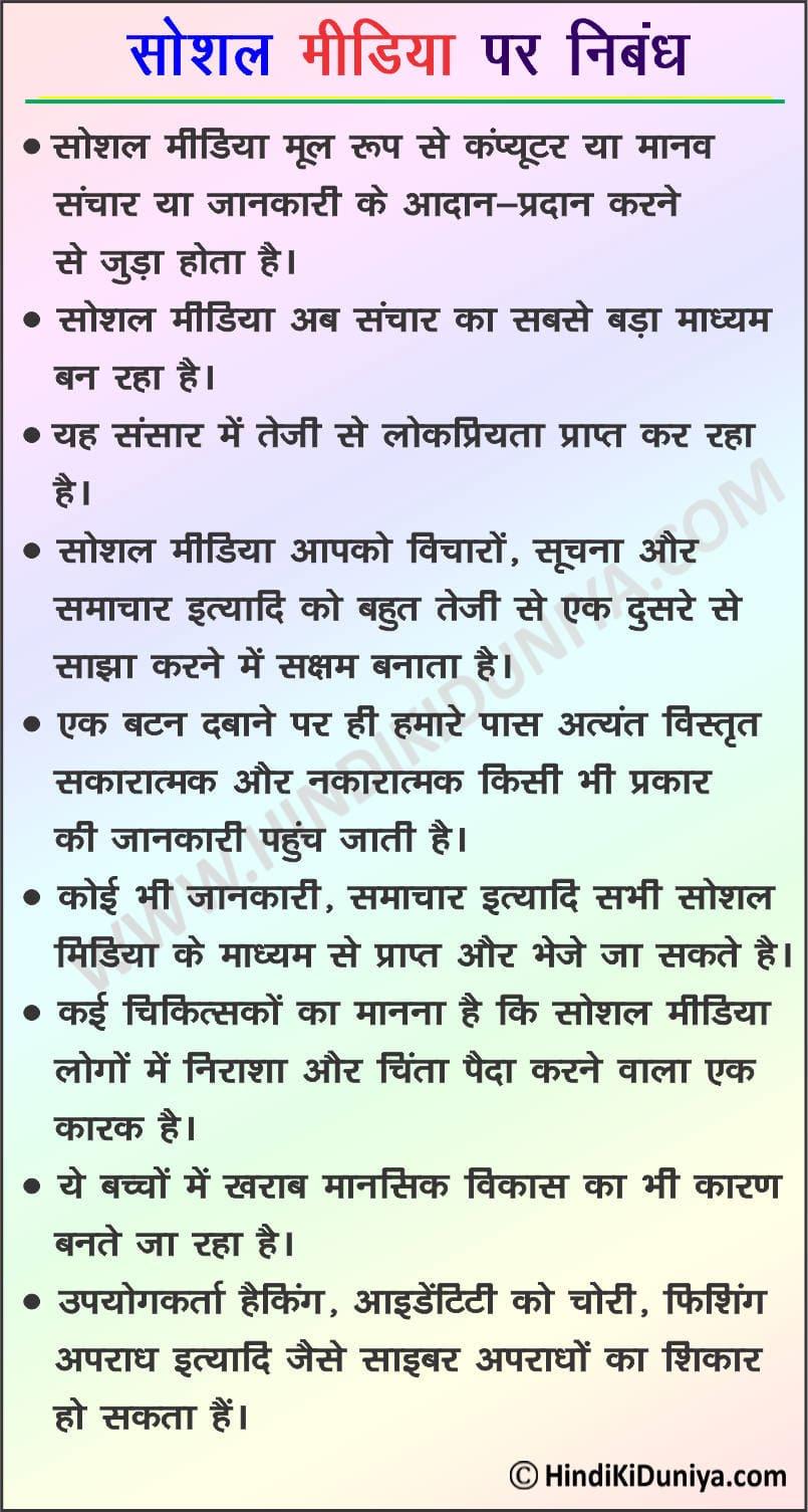 Essay on Social Media in Hindi