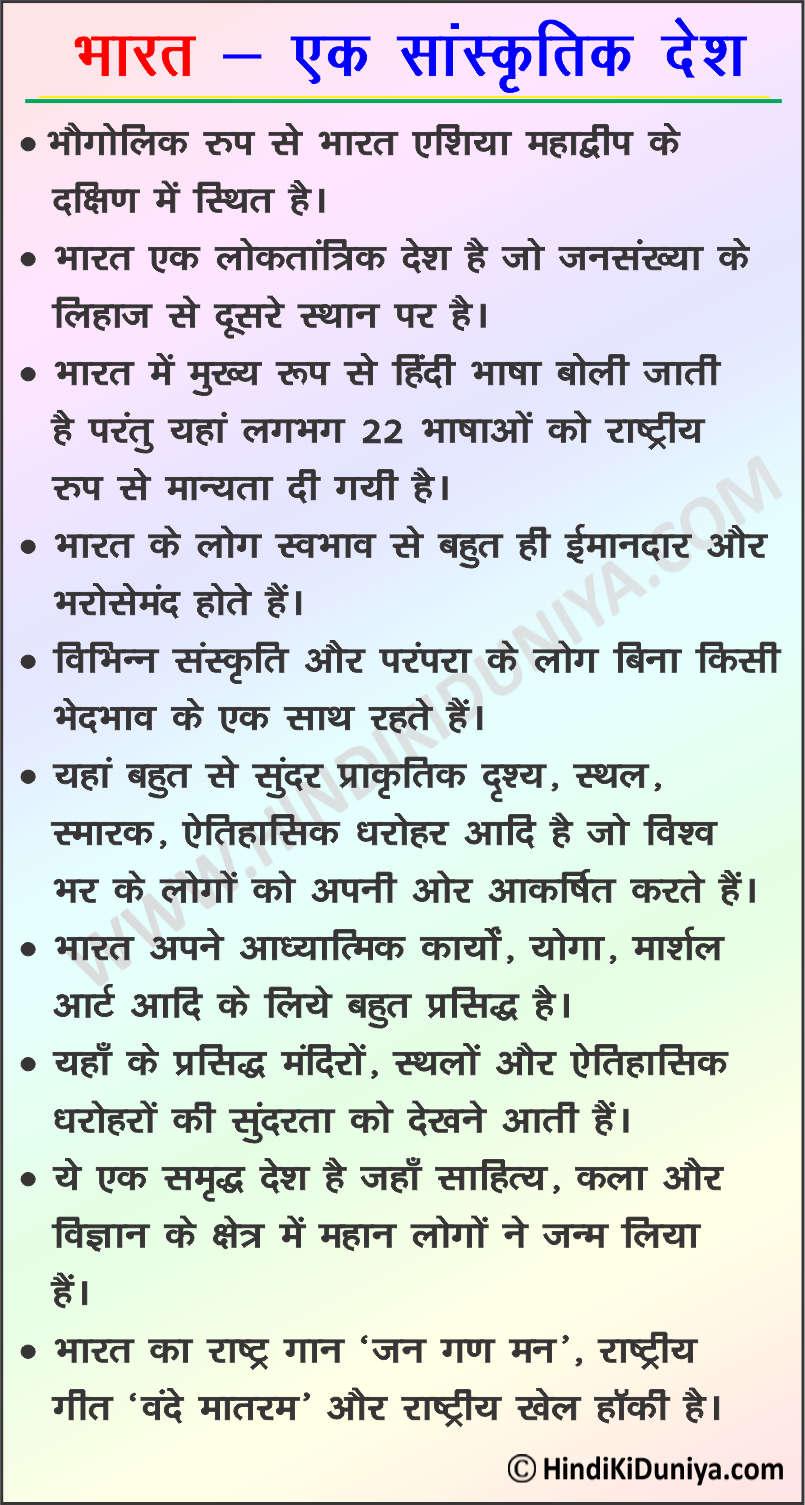 Essay on India in Hindi