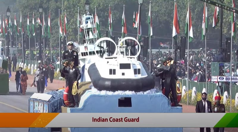 Indian Coast Guard Tableau