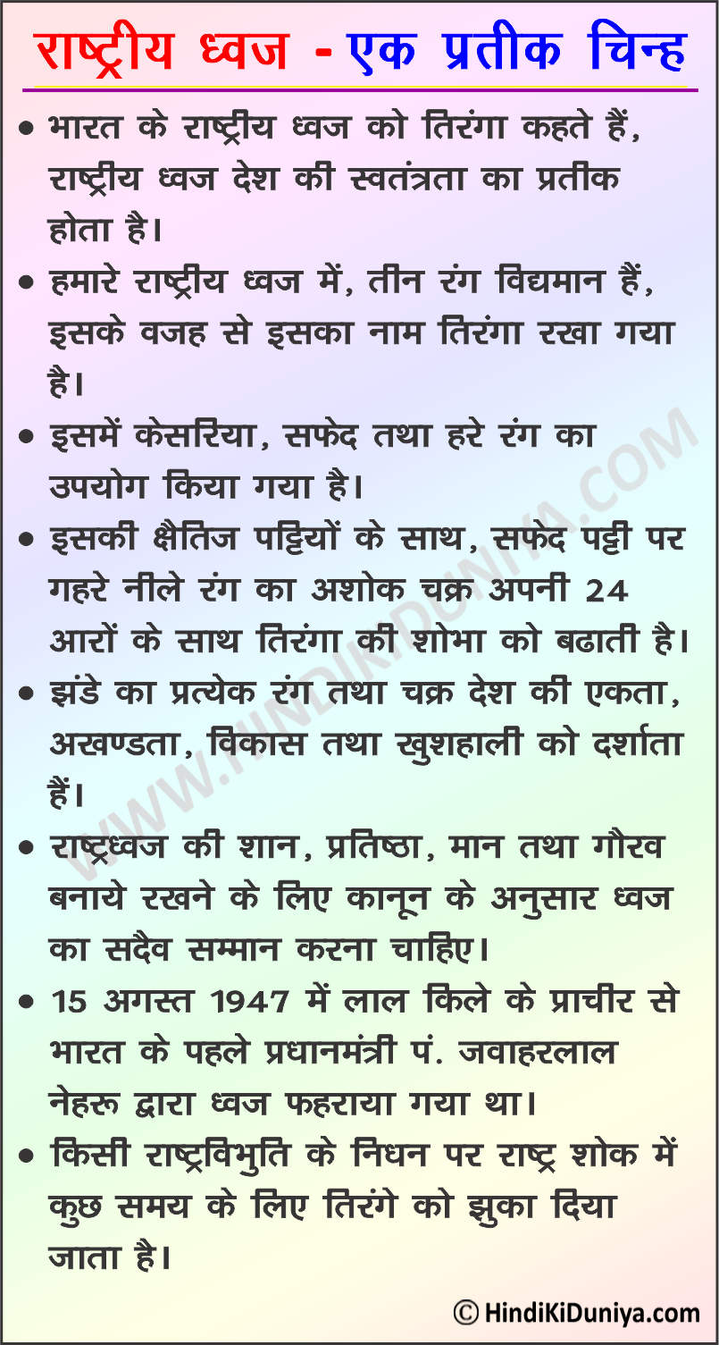 Essay on National Flag in Hindi