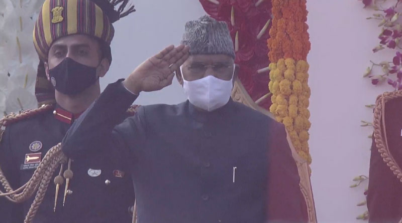 President Salutes National Flag
